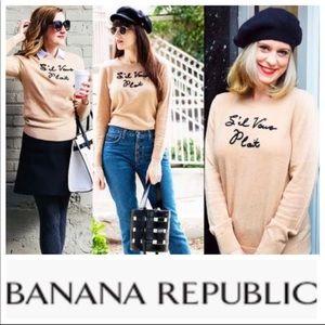 Banana Republic French Inspired Sweater Sz XL